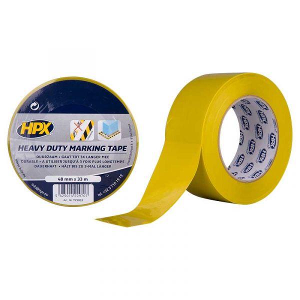 ЖЕЛТАЯ клейкая лента на основе ПВХ для напольной разметки и маркировки НРХ с дополнительной защитой HEAVY DUTY