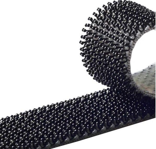 85010 Лента застёжка на клеевой основе Duo Grip (грибок/грибок) ЧЕРНЫЙ, 25мм