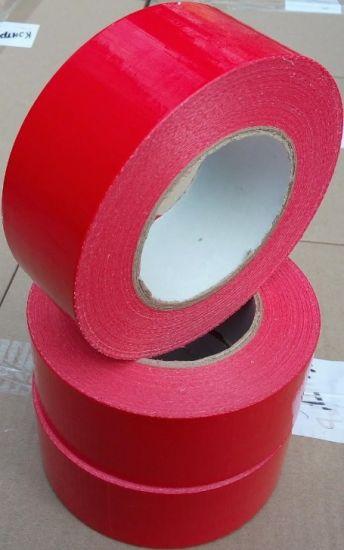Армированная лента скотч для обвязки и маркировки, красный