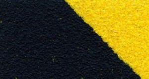Предупреждающая противоскользящая (антискользящая) лента стандартная зернистость safety-grip, желто-черная