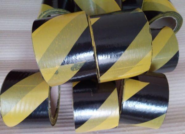 Сигнальная лента черно желтая