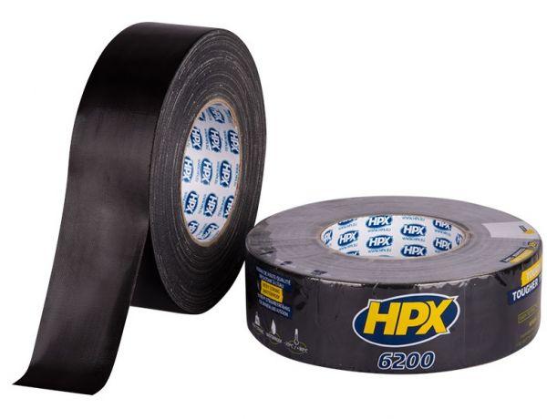 Черная армированная ремонтная лента (скотч) HPX 6200