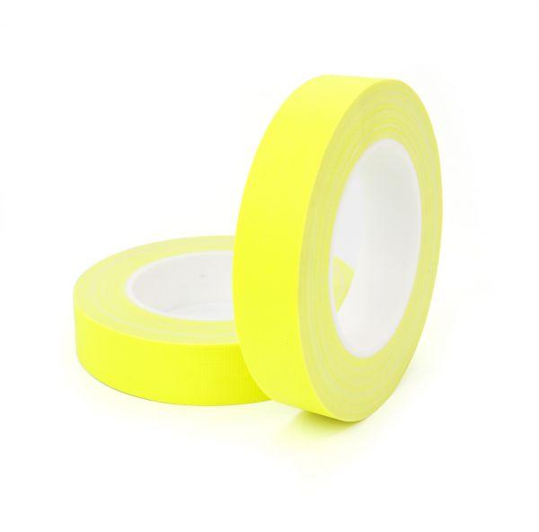 Армированный флуорисцентный матовый скотч FLUO TAPE желтый