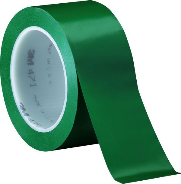ЗЕЛЕНАЯ виниловая клейкая лента на основе ПВХ для разметки, маркировки 3М 471