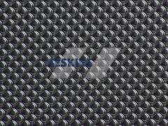 Тактильная самоклеющаяся противоскользящая (антискользящая) лента со сферическими лунками, черная