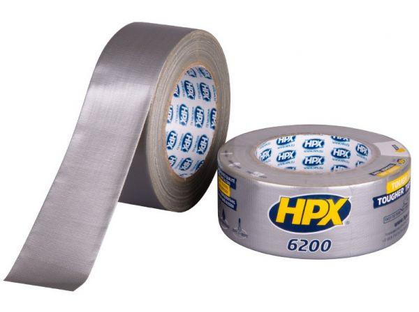 Серая армированная ремонтная лента (скотч) HPX 6200