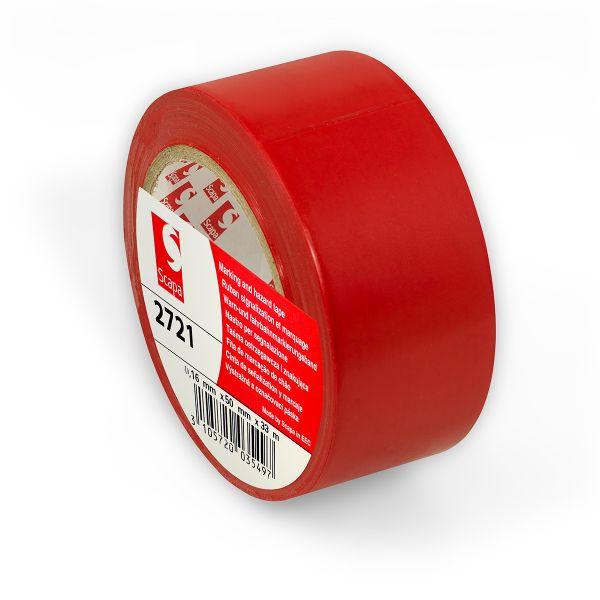 КРАСНАЯ клейкая лента для разметки пола, маркировки, цветного кодирования Scapa 2721