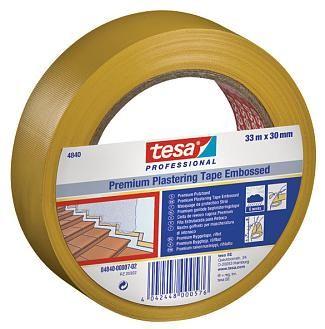 Малярная лента для защиты гладких и деликатных поверхностей во время штукатурных работ Tesa 4840
