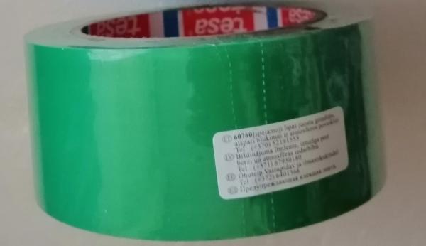 ЗЕЛЕНЫЙ разметочный скотч TESA 60760 на основе ПВХ для напольной разметки и маркировки
