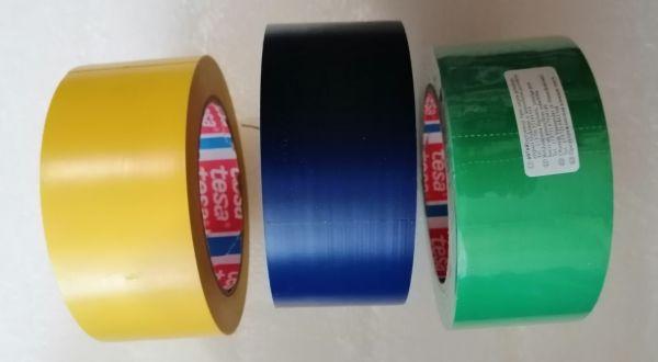 СИНЯЯ TESA 60760 разметочная клейкая лента ПВХ  для напольной разметки и маркировки