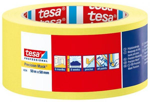 Малярная лента (малярный скотч)  для четких границ окрашивания Tesa 4334