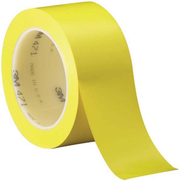 ЖЕЛТАЯ виниловая клейкая лента на основе ПВХ для разметки, маркировки 3М 471